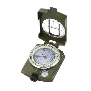 ALPIN - PRISMATIC MILITARY STYLE COMPASS WITH WATERPROOF METAL CASING AND FLOATING DIAL