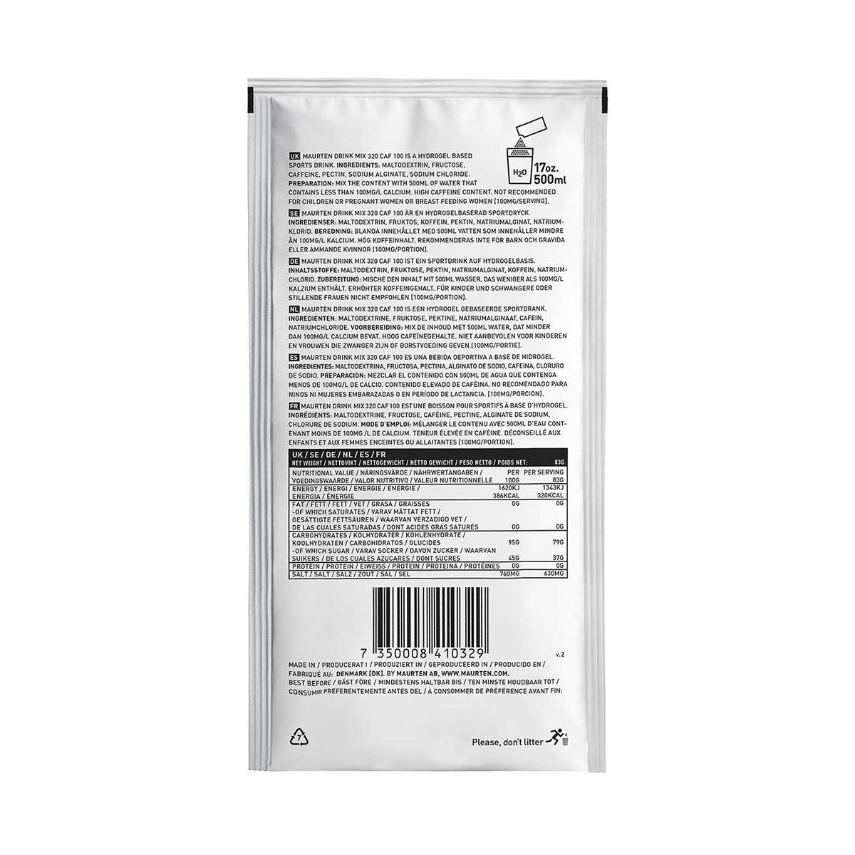 MAURTEN - DRINK MIX 320 CAF (100 MG CAFFEINE)
