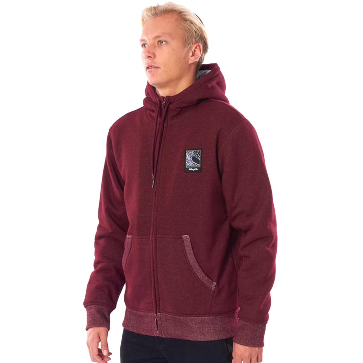 RIPCURL - AGILE LINED FLEECE FULL ZIP HOODIE
