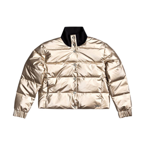 ROXY - CROSS STEPPING WATERPROOF METALLIC PUFFER JACET
