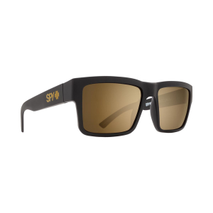SPY - MONTANA SOFT MATTE BLACK - HAPPY BRONZE GOLD MIRROR
